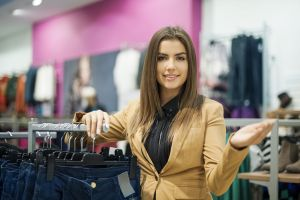 girl in clothing dept